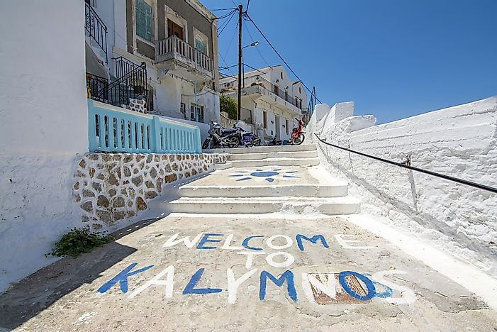 Street view in Kalymnos.