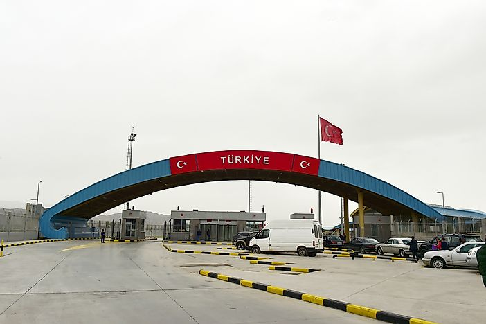 The easternmost point of Turkey is near the Dilucu border gate. Editorial credit: thomas koch / Shutterstock.com