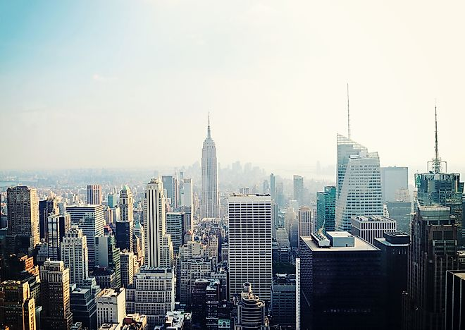 The skyline of New York.