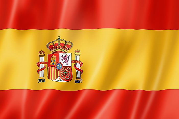 What Do The Colors And Symbols Of The National Flag Of Spain Mean