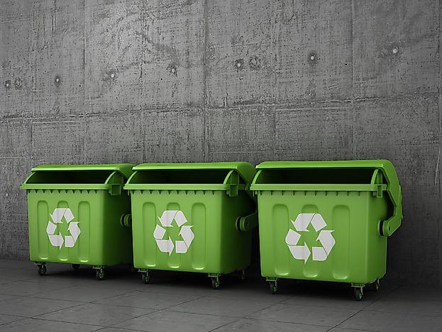 OECD Recycling Statistics - WorldAtlas com