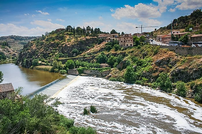 Tagus River At the Brink of Drying