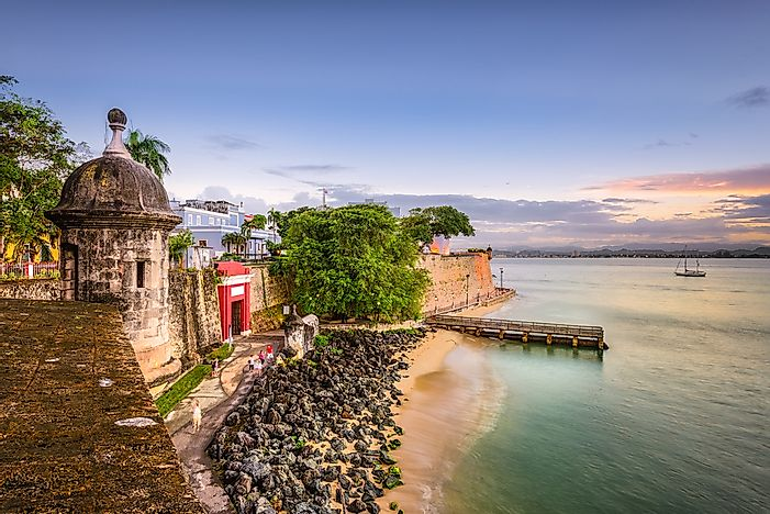 San Juan, Puerto Rico, the capital of the US territory of Puerto Rico.