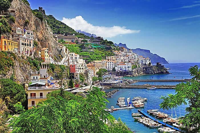 The beautiful Amalfi Coast.
