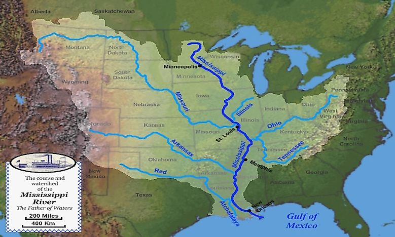 Facts About The Mississippi River WorldAtlascom - Atlas river