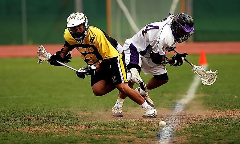 the game of lacrosse Lacrosse has its origins in a tribal game played by eastern woodlands native americans and by some plains indians tribes in what is now the united states of america .