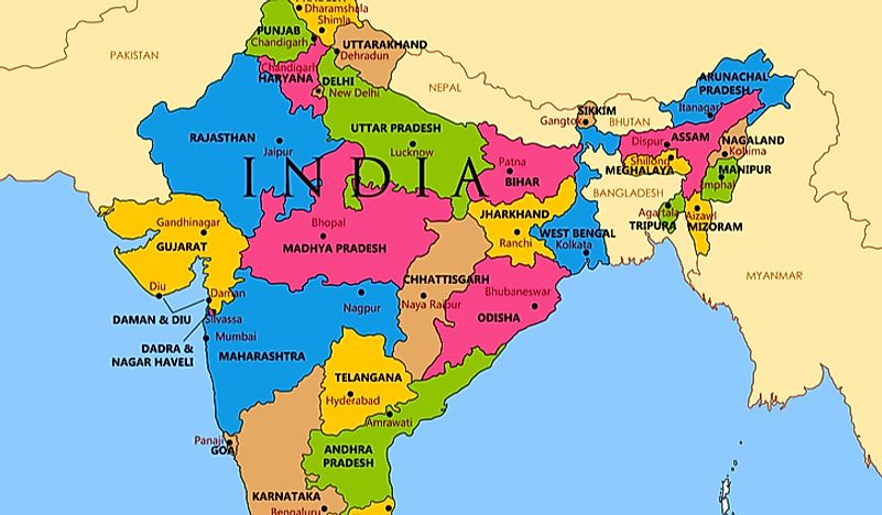 How Many States Are In India WorldAtlas