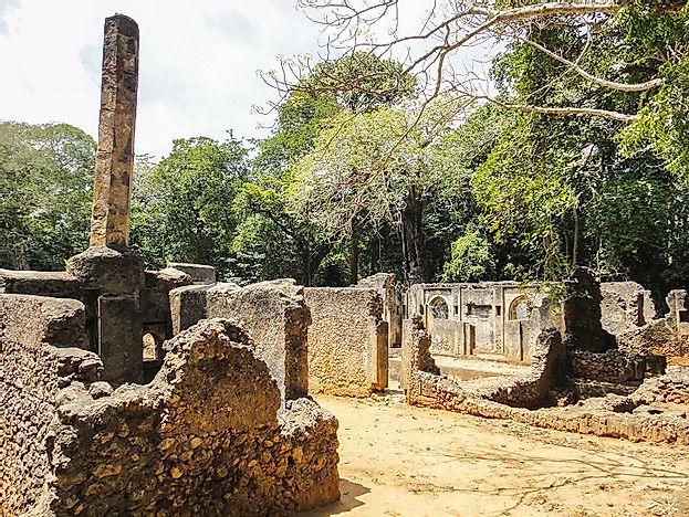 The Ancient Gedi Ruins Of Kenya Worldatlas Com