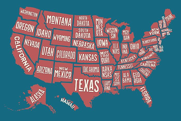 The Singly Landlocked States Of The United States