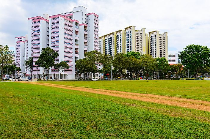 Residential buildings in Singapore.