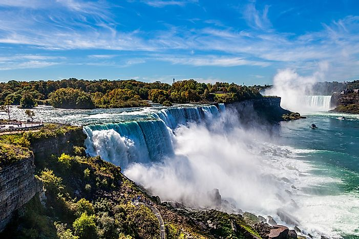 #7 Niagara Falls - the Widest, Most Powerful Falls in North America