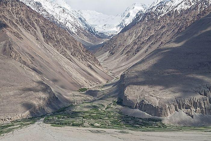 #8 Afghanistan (6,180 feet)