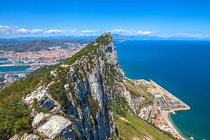 Where is the Rock of Gibraltar?