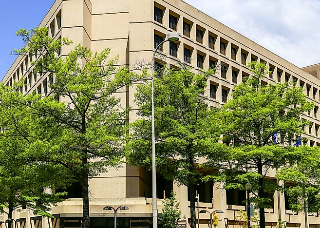 The FBI Headquarters, officially called the J. Edgar Hoover Building.