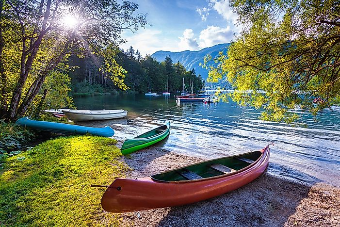 Bohinj Lake in the Slovenian Alps.