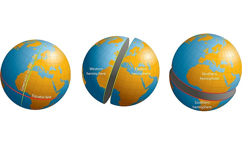 Which Continent Is Situated In All Four Hemispheres?