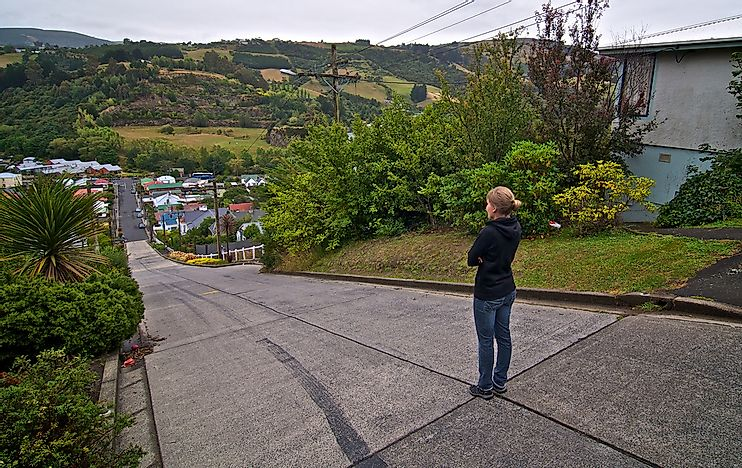 Baldwin Street, New Zealand - The Steepest Residential Street In The World