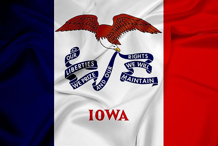 What Does the State Flag of Iowa Look Like?