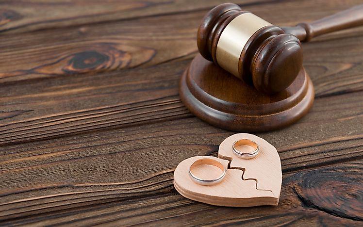 10 US States With The Highest Divorce Rates - WorldAtlas com