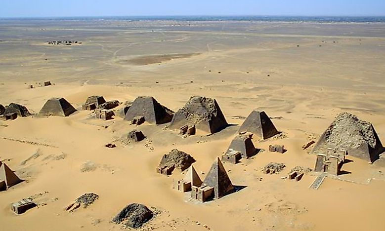 Ancient Kush Sites Of Meroe Island, Sudan