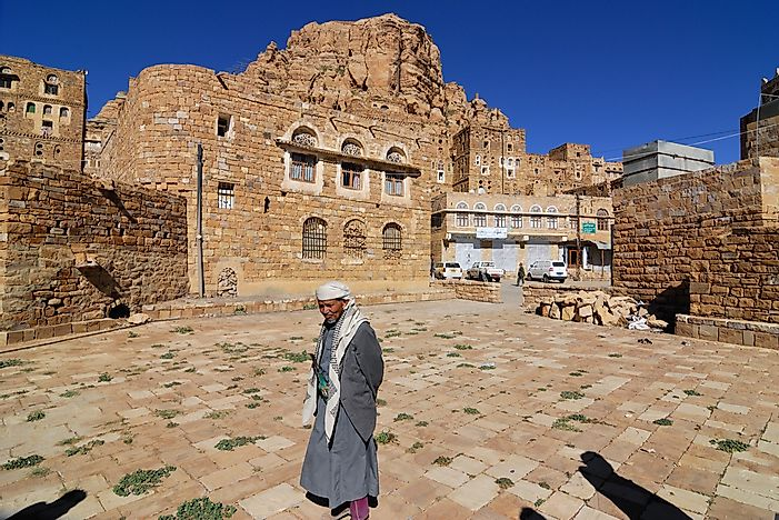 Thula is a medieval village in Yemen, shown here in 2010. Today, it has been destroyed by civil war. Editorial credit: Oleg Znamenskiy / Shutterstock.com.