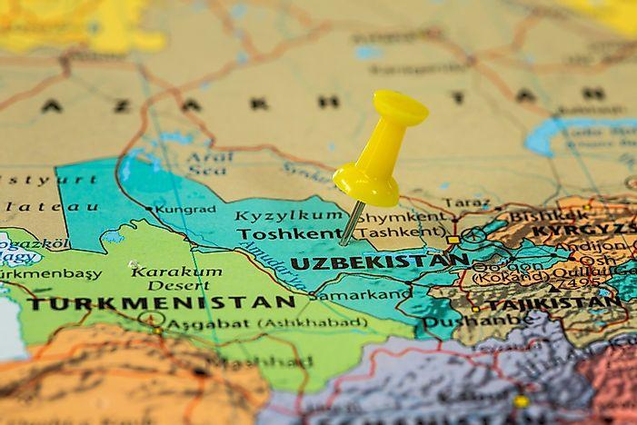 Which Countries Border Uzbekistan? - WorldAtlas.com