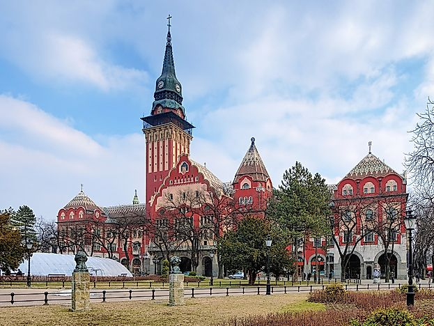 The Subotica City Hall is famous for its art-nouveau style.