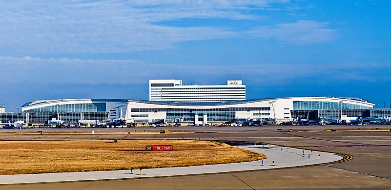 #9 Dallas-Fort Worth International Airport - 63.5 Million Passengers - The Busiest Airport in the World