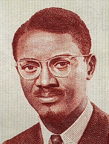 The portrait of Patric Lumumba on a Guiean banknote.