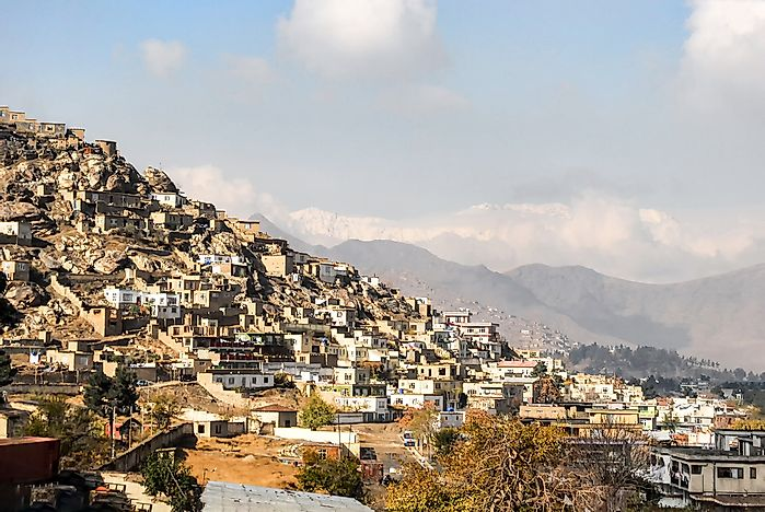Informal settlements in Kabul, one of the fastest growing municipalities in the world.
