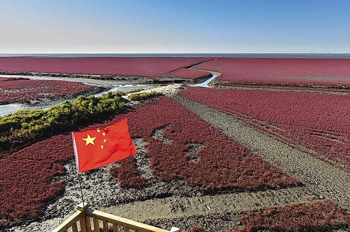 Panjin Red Beach, China, Unique Places In The World