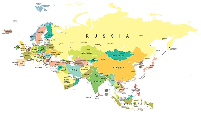 Boundary Map Of Asia.How Is The Border Between Europe And Asia Defined Worldatlas Com