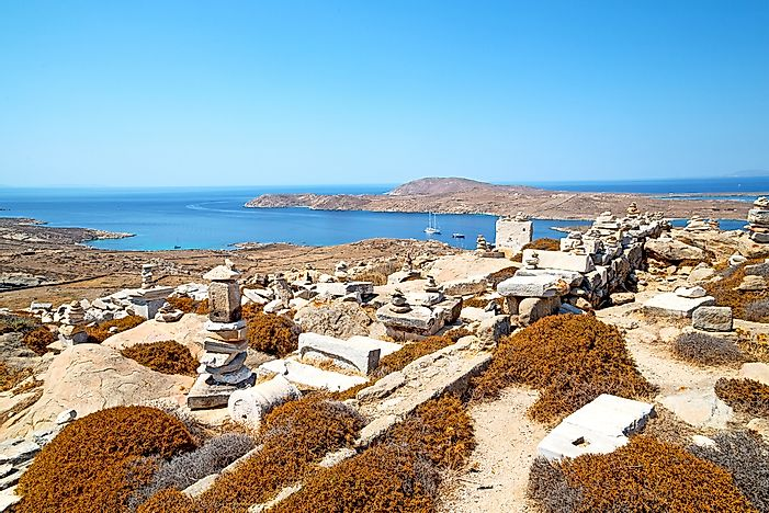 The island of Delos.