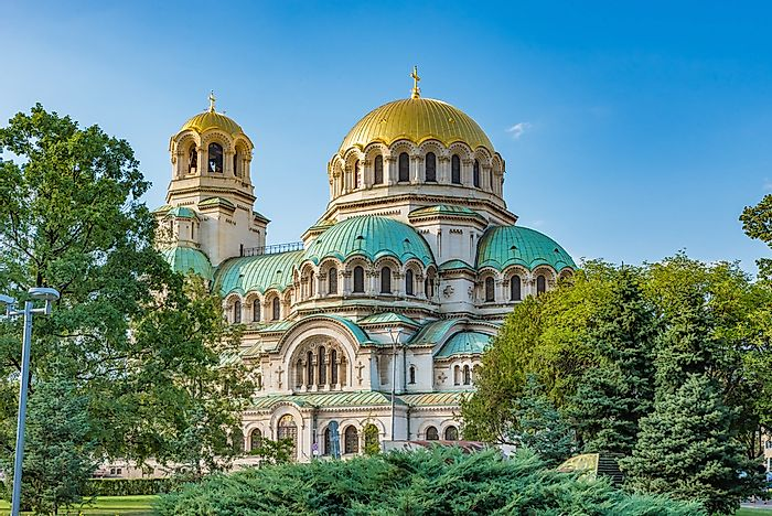 The Alexander Nevsky Cathedral of Sofia, Bulgaria.