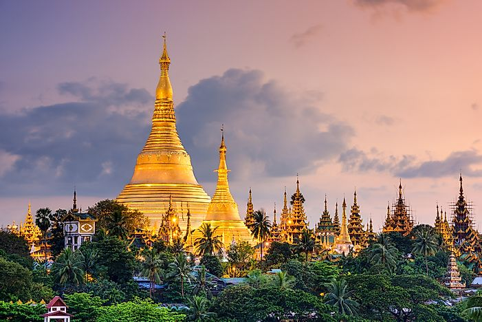 Ancient pagodas in Myanmar.