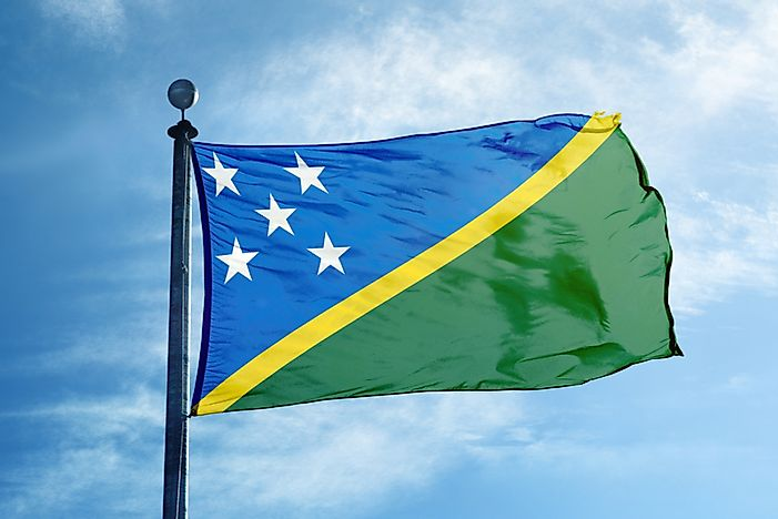 What Do The Colors And Symbols Of The Flag Of The Solomon Islands Mean?