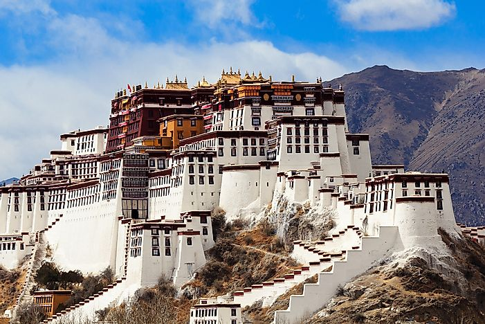 The Potala Palace in Tibet.