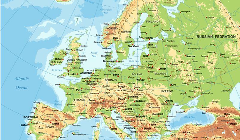 The Major Mountain Ranges In Europe - WorldAtlas.com