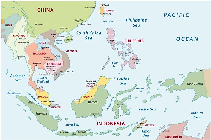 Which Countries Are Considered to Be Southeast Asia? - WorldAtlas.com