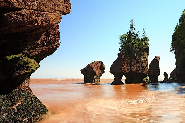 The famous Bay of Fundy.