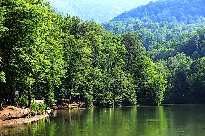 A lake in Dilijan National Park.