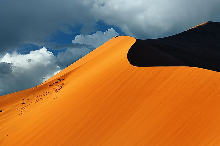 The arid landscape of Namibia.