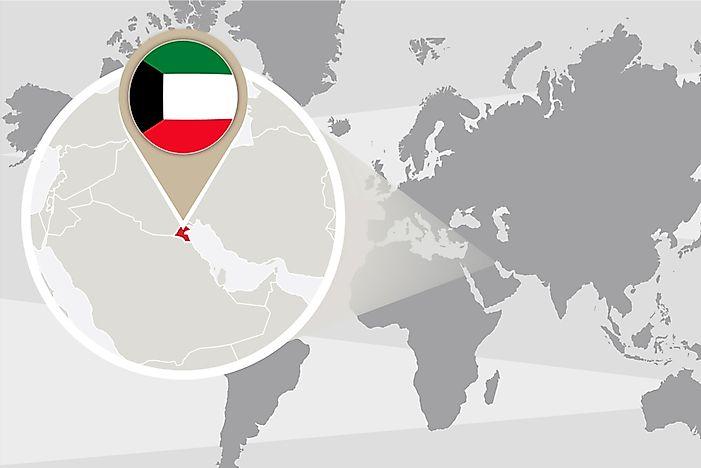 What Continent is Kuwait In? - WorldAtlas.com on switzerland on world map, nigeria world map, belgium world map, palestine world map, turkey world map, iraq world map, iceland world map, israel map, cameroon world map, qatar world map, mauritius world map, netherlands world map, fiji world map, afghanistan map, cuba world map, singapore world map, jordan world map, tehran world map, syria world map, vietnam world map,