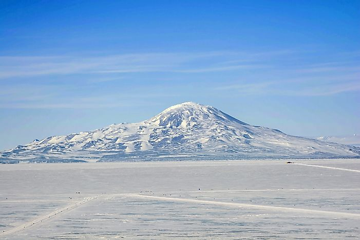 #10 Mount Erebus - the World's Most Southern Active Volcano