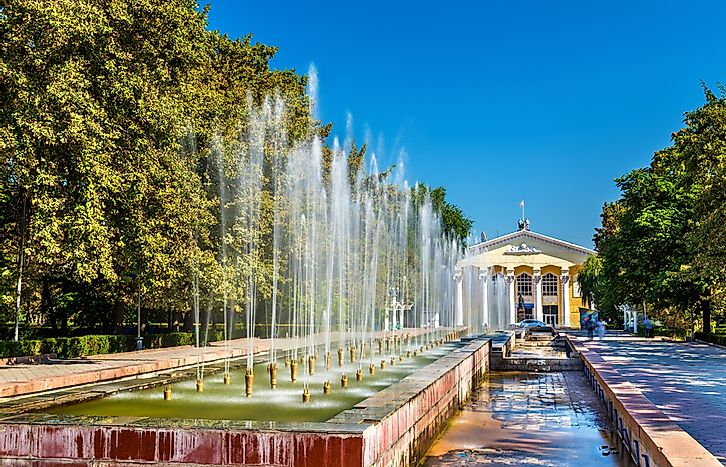 Fountains in Bishkek.