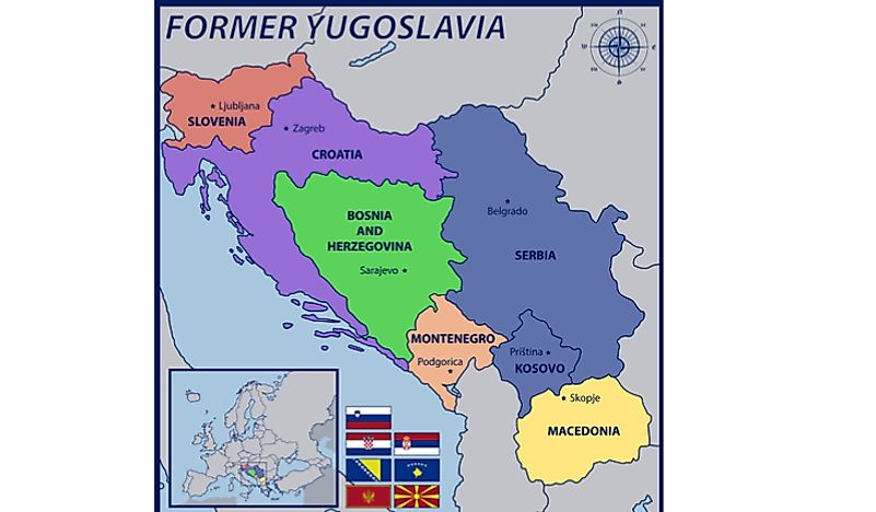 Yugoslavia Break Up Map Which Present Day Countries Were Once a Part of Yugoslavia