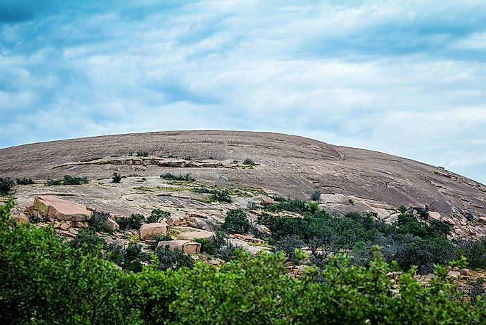 Cedar Scrub shrubland ecoregion in Enchanted Rock State Park, Texas.