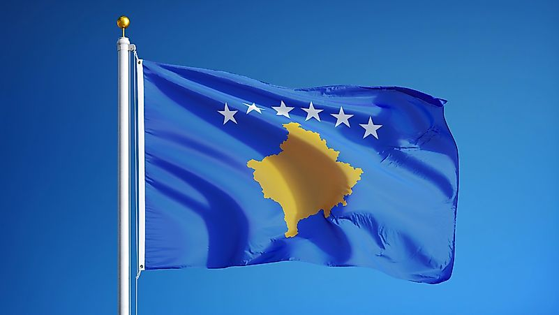 The flag of Kosovo.