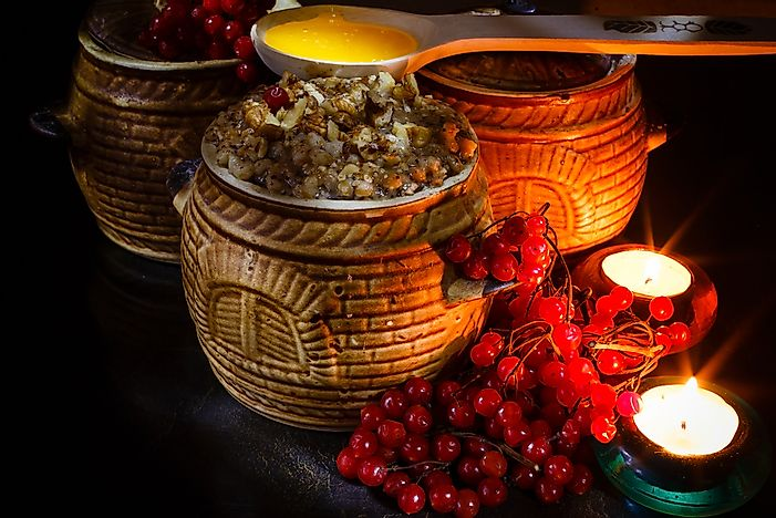 Kutia, a traditional Christmas meal in Ukraine.