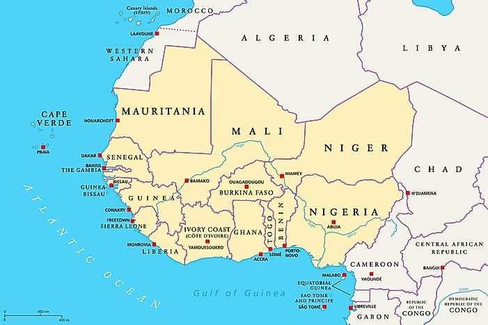 Which Countries Are Part Of West Africa? - WorldAtlas.com